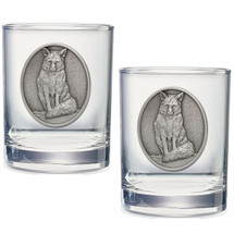 Fox Double Old Fashioned Glass Set of 2 | Heritage Pewter | HPIDOF246