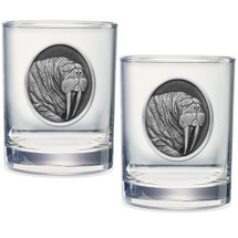 Walrus Double Old Fashioned Glass Set of 2   Heritage Pewter    HPIDOF207