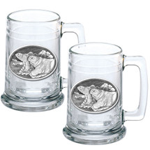 Polar Bear Beer Stein Set of 2   Heritage Pewter   HPIST112