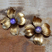 Dogwood Flower Post Earrings | Elaine Coyne Jewelry