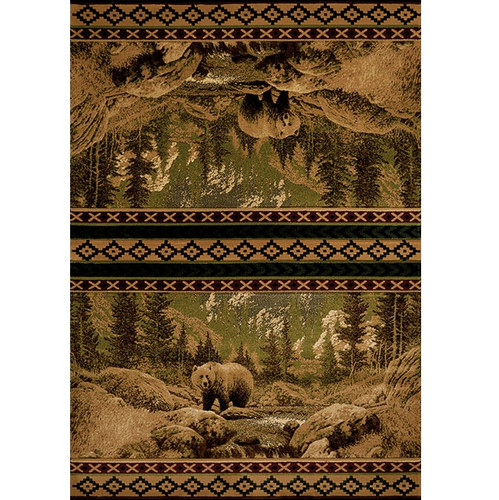 Bear Area Rug Scenic Bear United Weavers