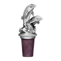 Dolphin Bottle Stopper | Heritage Pewter | BS8517