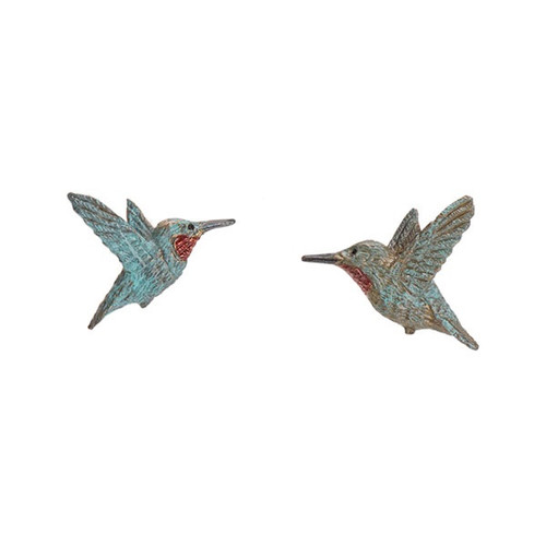 Rufous Hummingbird Post Earrings | Cavin Richie Jewelry | KBE52post