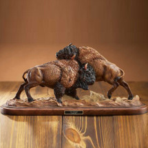 "Bison Sculpture ""Test of Strength"" 