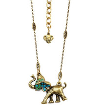 Elephant Dancing Pendant Necklace  | La Contessa Jewelry | NK9405GB