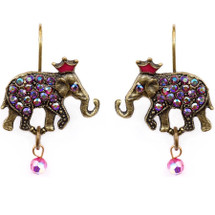 Elephant With Crown Earrings | La Contessa Jewelry | Mary DeMarco | ER9401