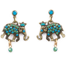 Crowned Elephant Earrings | La Contessa Jewelry | Mary DeMarco | ER9400