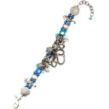 Octopus Blue Bracelet  | La Contessa Jewelry | Mary DeMarco | BR8564BL