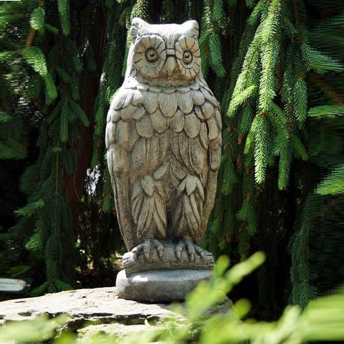 Owl Outdoor Concrete Garden Statue   Stonecasters   HES2570