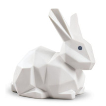 Origami Rabbit Matte White Porcelain Figurine | Lladro | LLA01009269