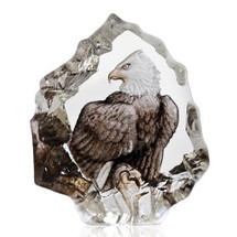 Color Eagle Crystal Miniature Sculpture | 88172 | Mats Jonasson Maleras