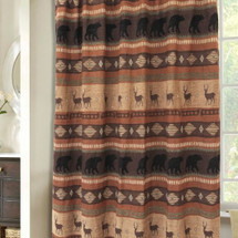Deer and Bear Autumn Trails Shower Curtain | Carstens  | JB4146
