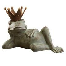 Lazy Frog Prince Sculpture Bird feeder | 33218 | SPI Home