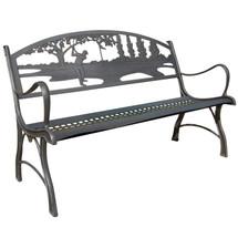 Golf Cast Iron Garden Bench | Painted Sky | PB-IGF-100BR