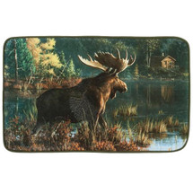 Back Bay Moose Bath Rug | R1208MULT | Creative Bath