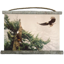 """Eagles Canvas Wall Hanging """"New Generation""""   Wood Graphixs   WCNG2518"""
