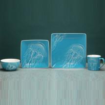 Jellyfish Dinnerware 4 Piece Place Setting   Unison Gifts   TCDJELLYFISH