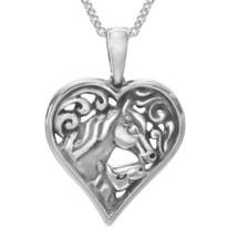 Horse Heart Pendant Necklace   SP510   Kabana