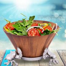 Crab Wood Salad Bowl | Arthur Court Designs | 218C11-1