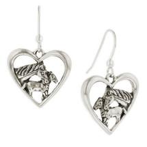 Horse Heart Earrings Sterling Silver   R-E616   Kabana