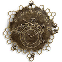 Bee Garden Clock and Thermometer | SPI Home | 34263
