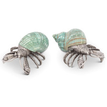 Crab Shell Salt and Pepper Shakers | Vagabond House | CO116H