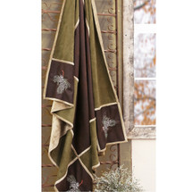 Pine Cone Microfiber Suede Lodge Throw | Carstens | JT722