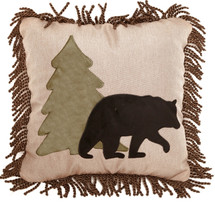 Bear and Tree Applique Throw Pillow | Carstens | JB6555
