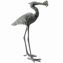 Crane Eating Fish Sculpture | 50606 | SPI Home