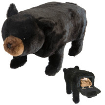"Black Bear Footstool/Storage Bin ""Big Ben"" | Carstens Friendly Footstool | BB1300"