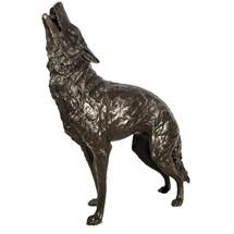 Wolf Bronze Life Size Outdoor Statue | Metropolitan Galleries
