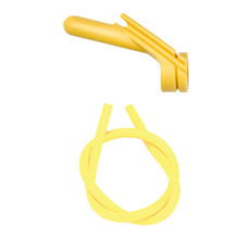 """Nitro Peep Sight 1/4"""" With Premium Silicone Tubing - Yellow"""