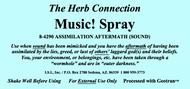 Music!  Spray 8 oz