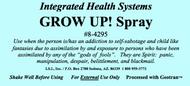 Grow Up!  Spray 8 oz