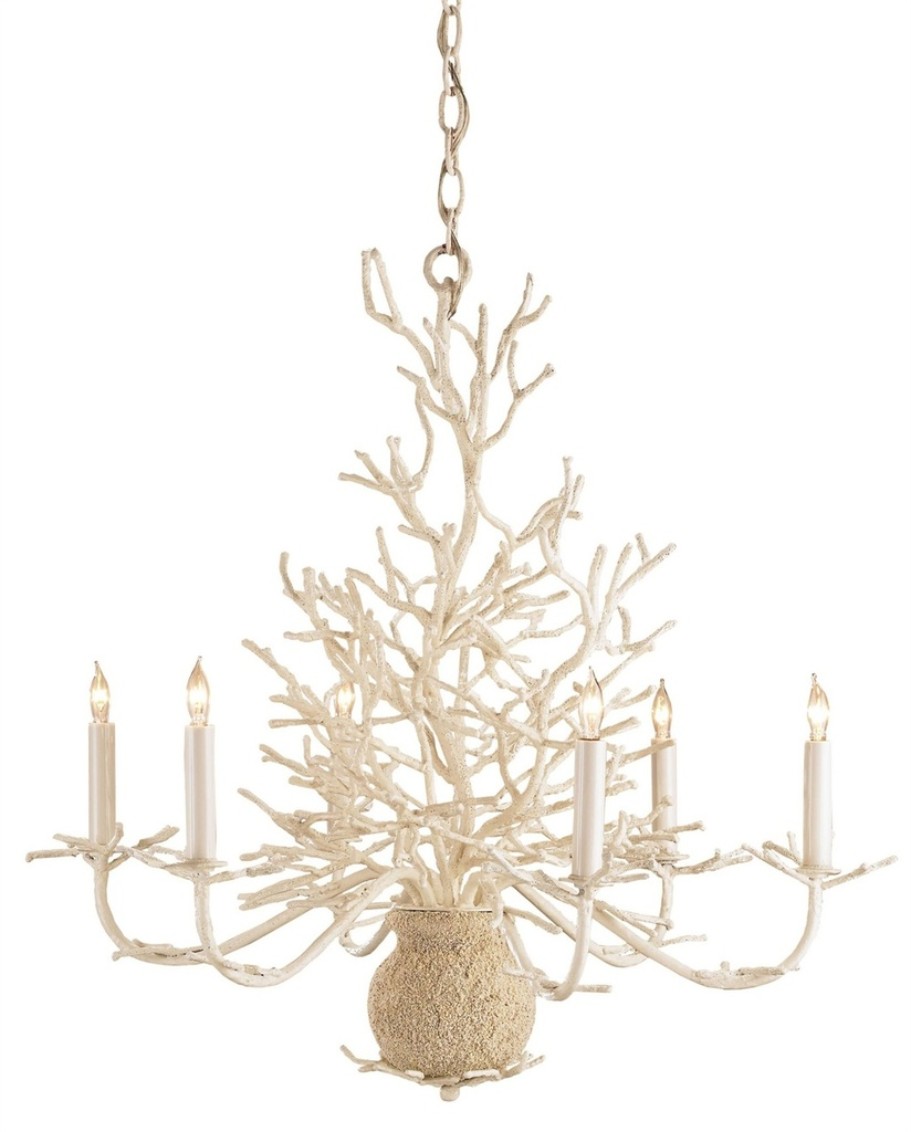 Beach Lighting Products: Seaward White Coral Branch Chandelier