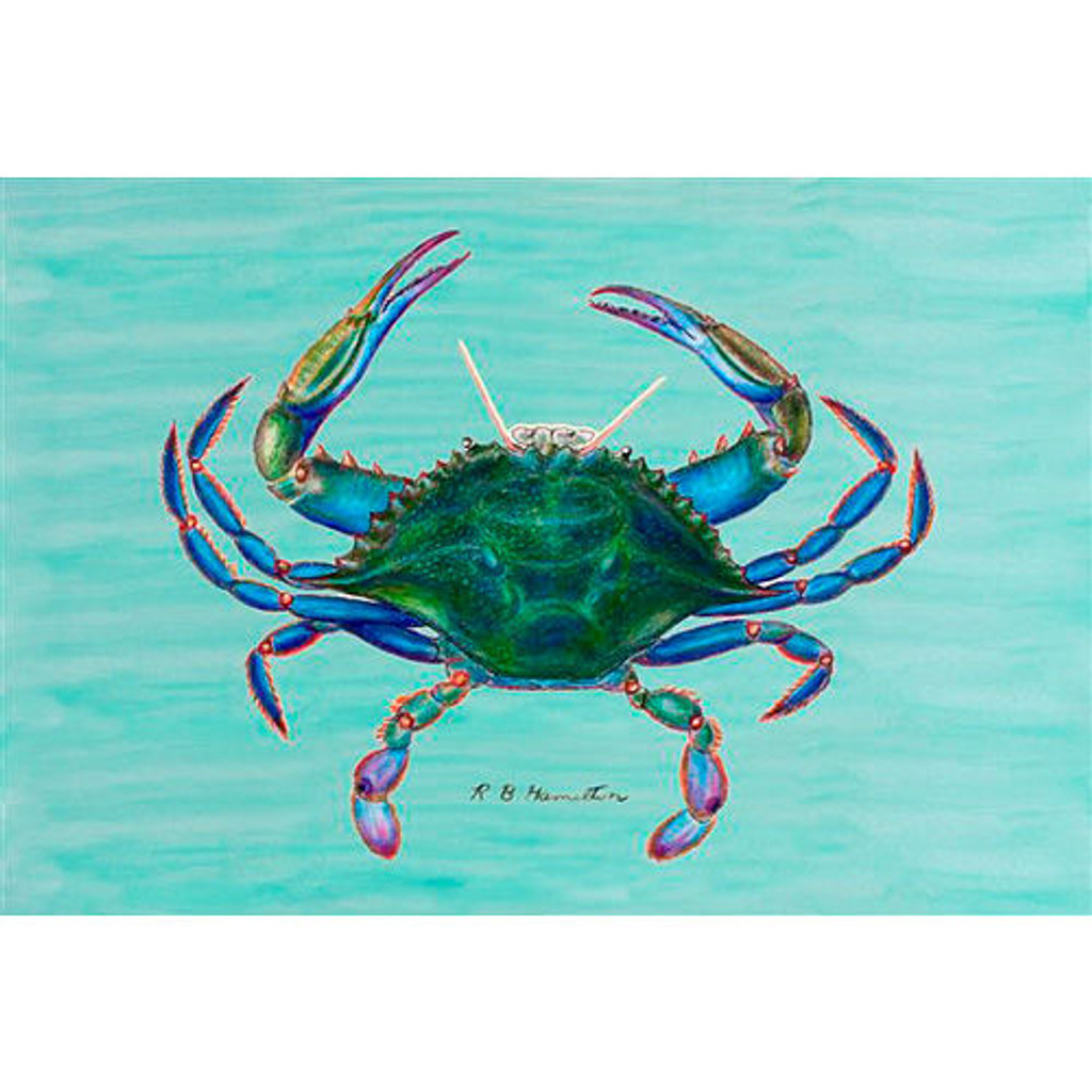 Blue Crab Floor Mat
