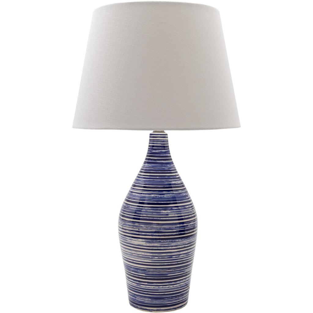 Eva Denim Blue Striped Coastal Lamp