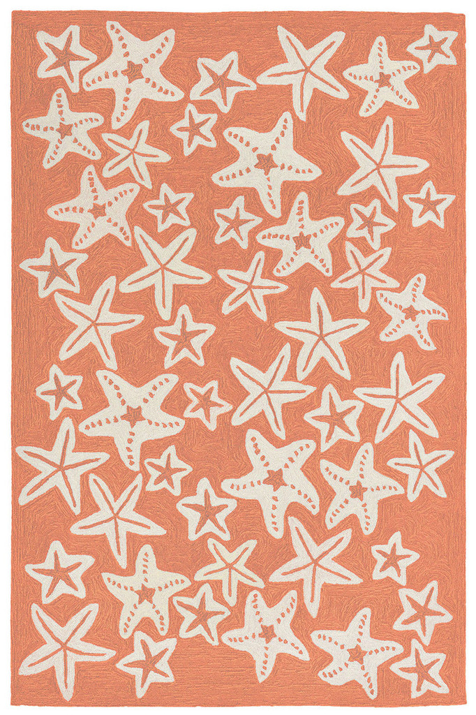 Starfish Coral Orange Rug
