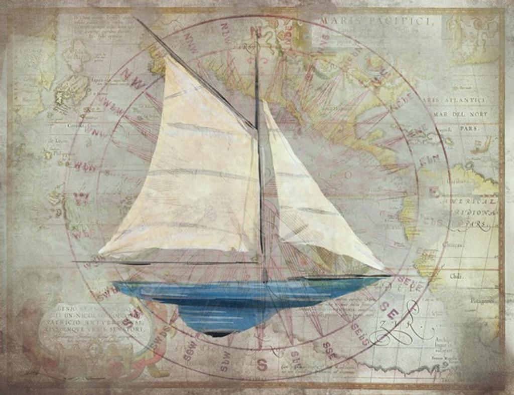 Sloop 2 Nautical Art