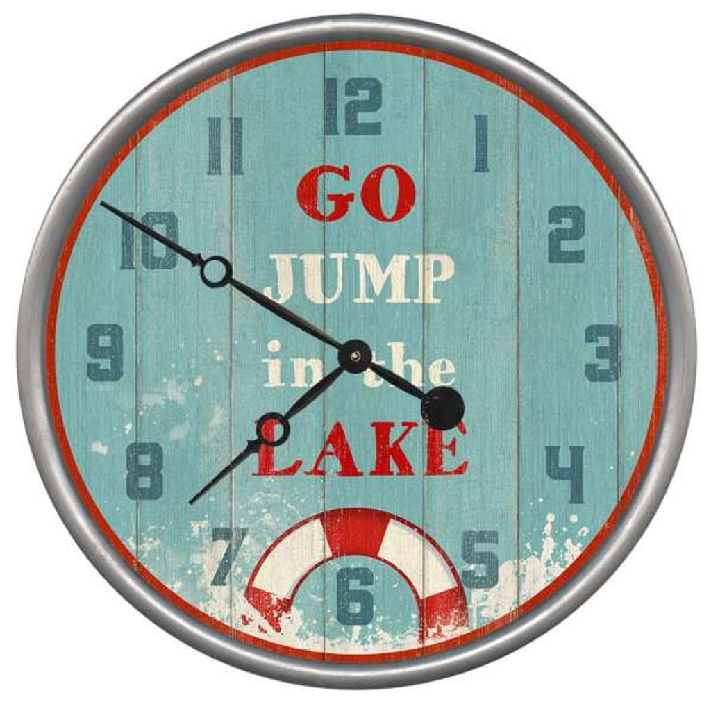 Jump In The Lake Clock Custom