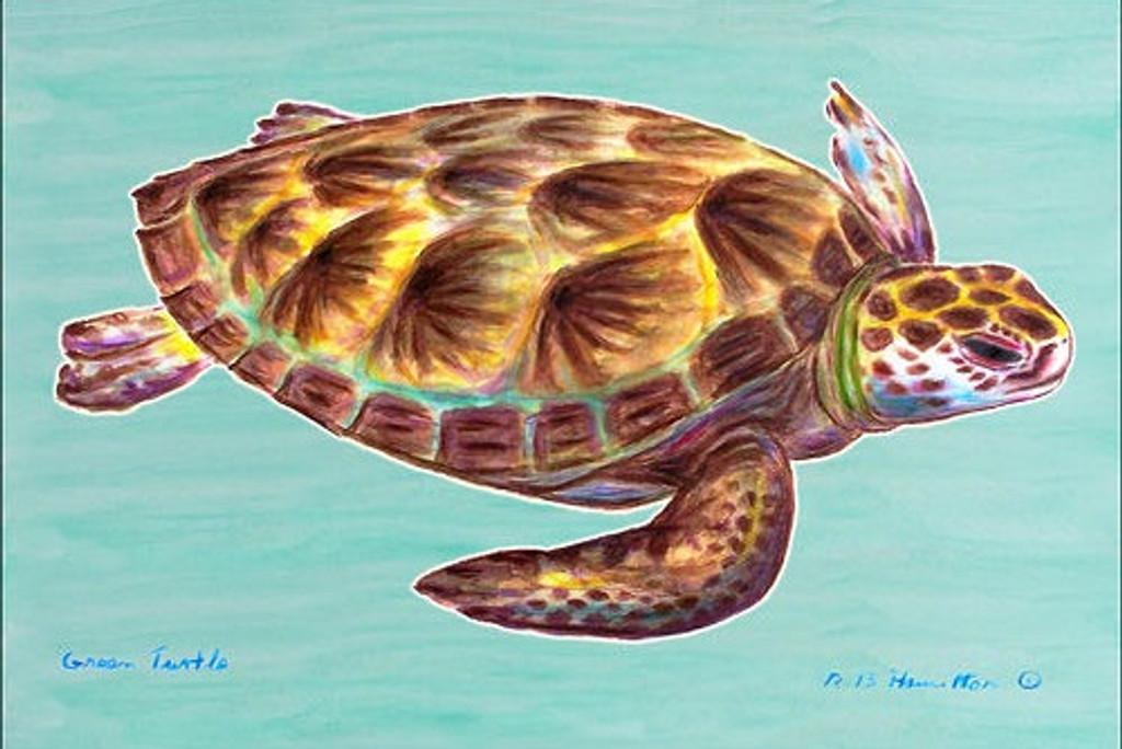 Green Sea Turtle Floor Mat