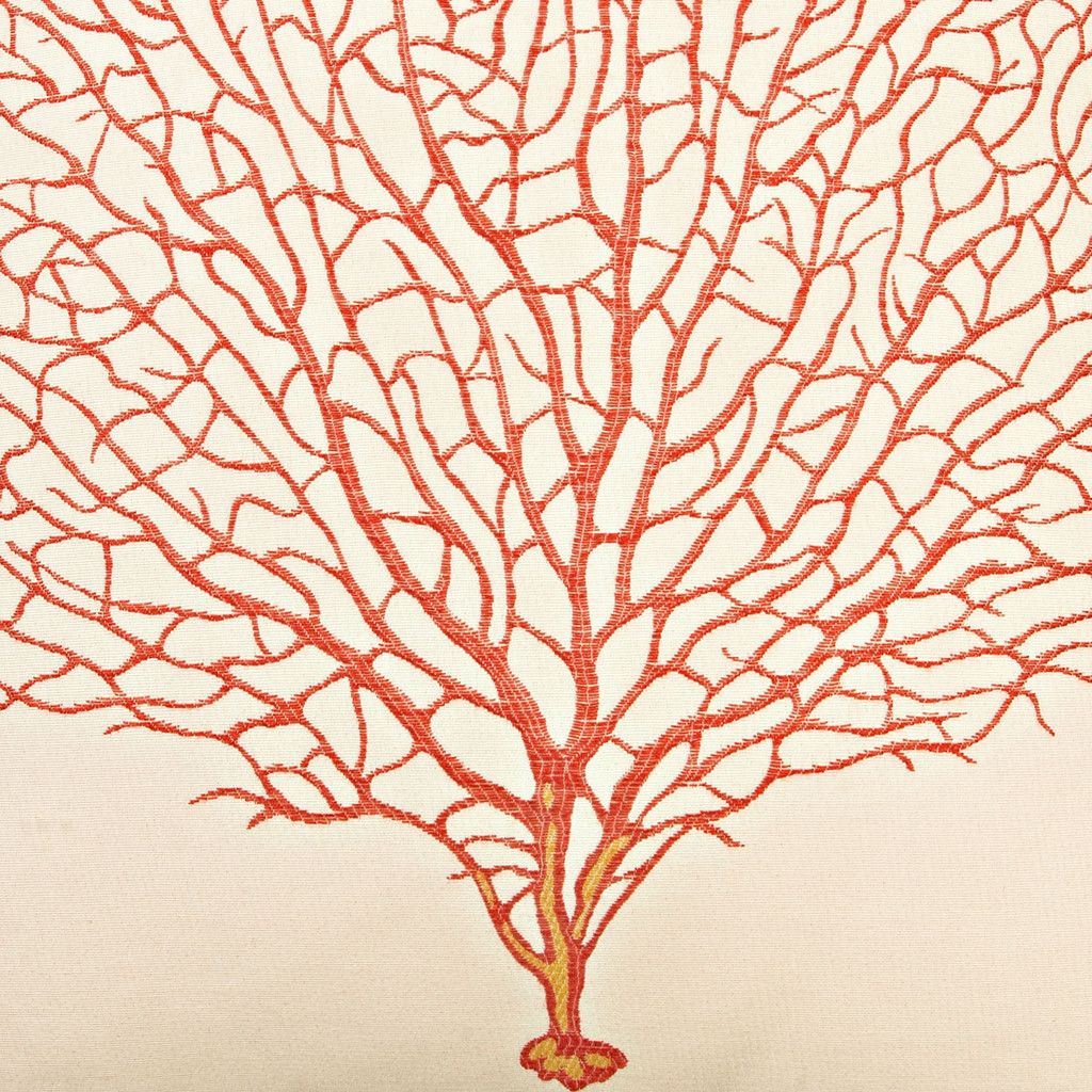 Coral Coral Sea Fan Luxury Pillow
