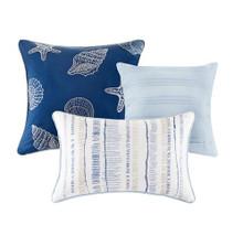 Marina Watercolor Striped Coverlet Set/decorative pillows