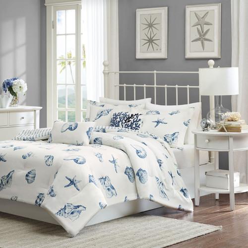 Beach House Blues Comforter Set - King Size
