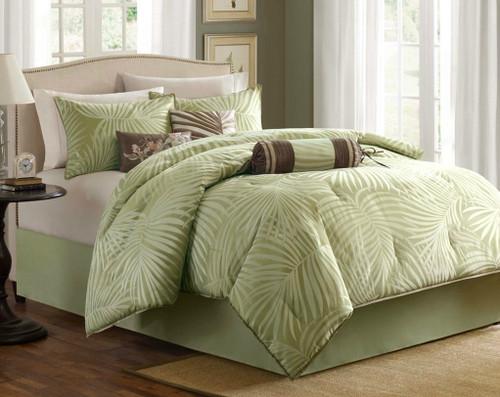 Bermuda Leaf Comforter Set - king size