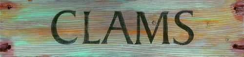 Clams Beach House Sign