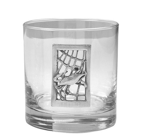 Seafarer Crab Double Old Fashioned Glasses - Set of 4