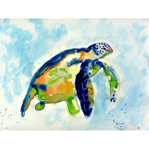 Island Blue Sea Turtle Floor Mat