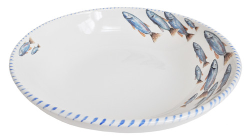 Blue School of Fish Large Serving Bowl