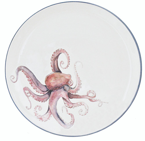 Octopus Large Round Serving Platter